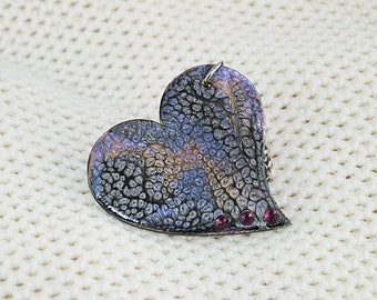 DOOR keys heart enameled purple, gold, black or jewelry bag