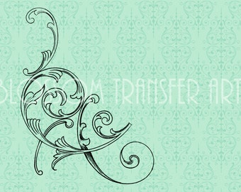 Vintage Flourish - Digital Images - Iron on fabric, pillows, totes  - Download for papercrafts - Printable Images - DIY - 1923