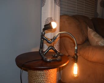 Fisherman lamp etsy fisherman pipe lamp aloadofball Gallery