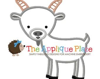 Goat Applique Design , Instant Digital Download File for Machine Embroidery , 4X4 5X7 6X10 in dst esp hus jef pes sew vip xxx