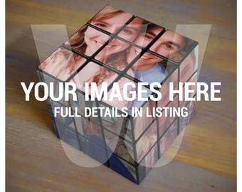 Puzzle Cubes (Black) - Custom - With Your Images (b)