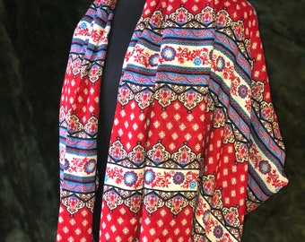 Infinity scarf, scarf, red scarf, shawl