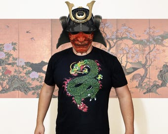 Jade Dragon Tattoo Style Art T-Shirt by Poison Apple