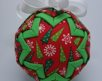 Quilted Fabric Ornament Christmas Pine Tree Holiday Gift
