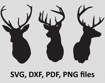 Deer SVG/ Deer DXF/ Deer Clipart/ Svg Files, printing design, png, pdf, DXF, Deer vector, Insta Download