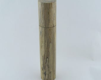 Spices and peppermill grinder in spalted Ash , Cylinder style with rod mechanisme  13 in article no: 701