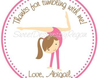 Gymnastics Party Favor Tags - Gymnastics Birthday Favors - Gymnastics Favors