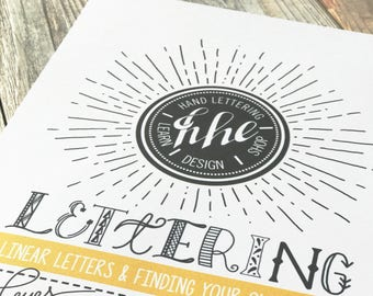 Learn Lettering Printable Guide, Linear Letters + Finding Your Own Style, Downloadable, Beginners Learn Hand-Lettering