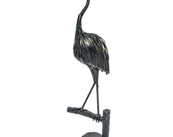 Great Blue Heron Metal Sculpture