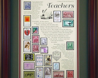 Teachers 2324 - Personalized Framed Collectible (A Great Gift Idea)