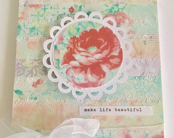 Shabby chic floral vintage style altered notebook