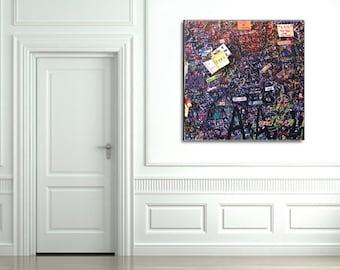 Italy Photography, Italy Print, Square Wall Art, Graffiti Art, Graffiti Canvas, Verona Love Letters, Teen Wall Art, Girls Wall Art, Italy