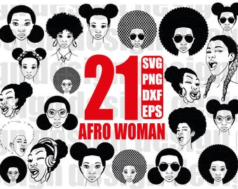 afro woman svg, black woman, funky woman, afro girl, black girl, curly hair, afro hair, clipart, stencil, vinyl cut files, iron on files