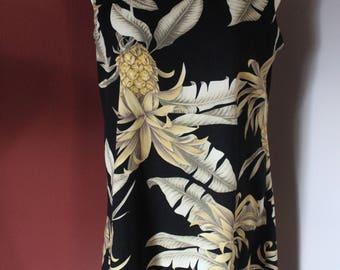 Vintage Peppermint Bay New York Tropical pineapple dress