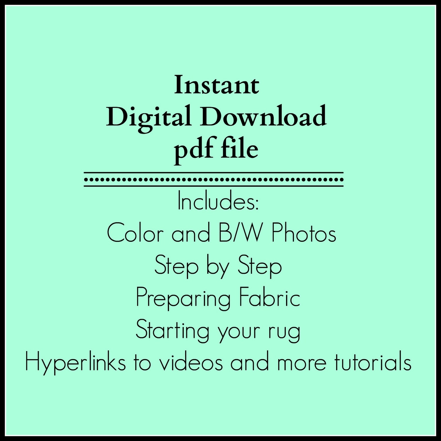 LEFT HAND Rug Instructions ROUND Amish Knot Toothbrush/pdf digital ...