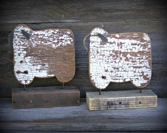 Primitive Sheep Table Sitter ~  Sheep Decor ~ Primitive Home Decor ~ Folk Art Sheep ~ Primitive Country ~ Wooden Sheep ~ Rustic Sheep