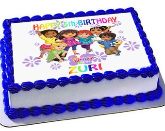 Dora The Explorer Birthday Cake Topper, Edible Images, Picture cake,Dora Birthday Party