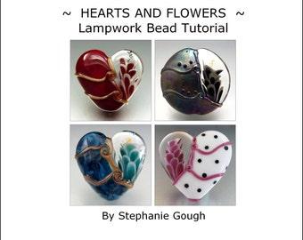 HEARTS AND FLOWERS - Lampwork Bead Tutorial by Stephanie Gough sra fhfteam leteam lampwork tutorial