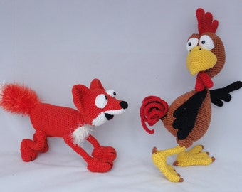 Amigurumi Crochet Pattern Set - Poultry Paul and Max the Fox - English Version