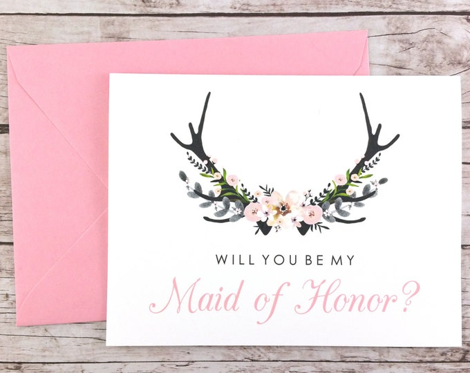 Will You Be My Maid of Honor Card (FPS0024)