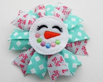 Snow girl Christmas spike bow/Christmas tree spike bow