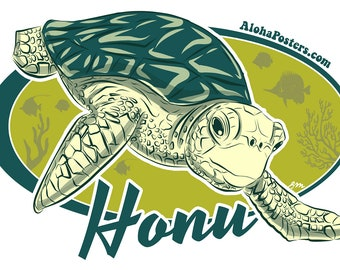Honu Vinyl Sticker