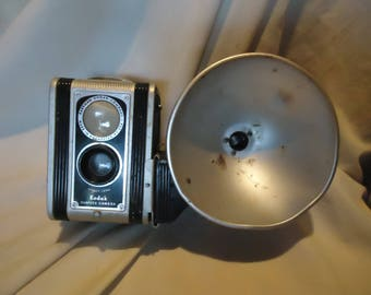 Vintage Eastman Kodak Duraflex Camera With Flash Attachment, collectable