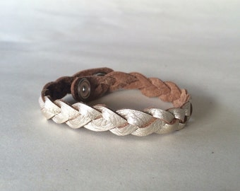 Toddler Child Braided Leather Bracelet, diffuser bracelet, essential oil jewelry, leather jewelry, oil bracelet