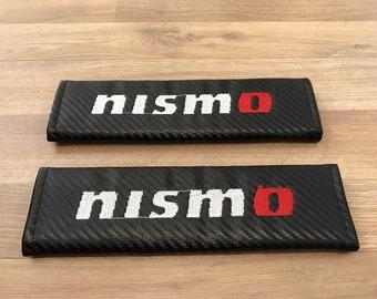1 pair Carbon Fiber Look Seat Belt Cover Shoulder Pads For Nissan NISMO