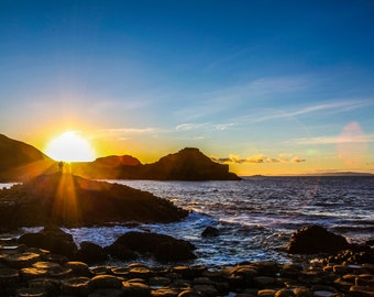 Sunset on the Giant's Causeway, Northern Ireland