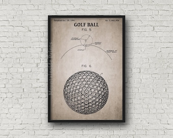 Golf ball blueprint etsy golf ball patent print golf ball patent poster blueprint art golfing gift malvernweather Image collections