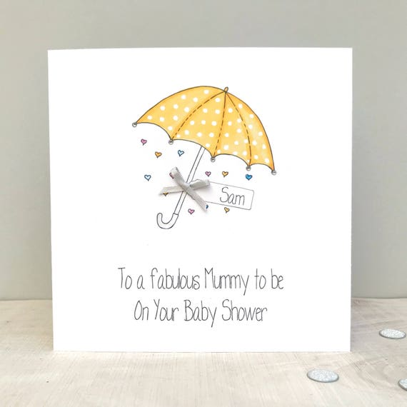 Personalised Baby Shower Card Handmade Personalised Baby