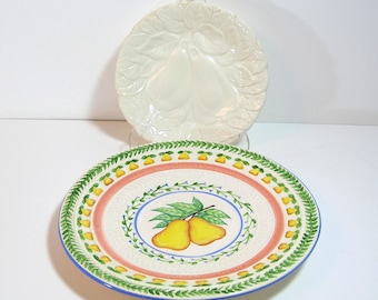 Two Decorative Pear Plates