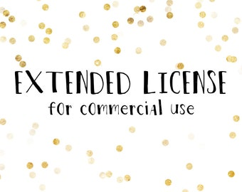 Extended license for Commercial Use PER 1 SET