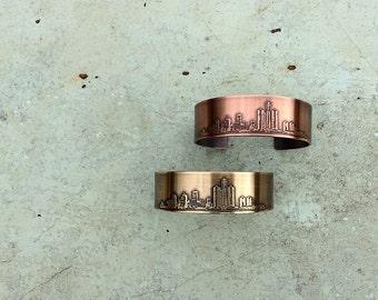 Detroit Michigan cuff bracelet | Detroit | Michigan bracelet | copper cuff | brass cuff