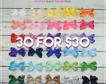 Hair Bows/6 inch bow /BEST SELLER/30 colors----Simply Sweet-Large hair bow/ Boutique bows/girl bows Large hair bow/ Boutique bows/girl bows
