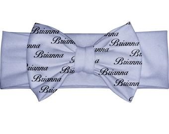 Baby Name Headband - Personalized baby gift - Baby Headband - Custom Bow Headband - Purple bow - turban bow Headband - Lilac baby