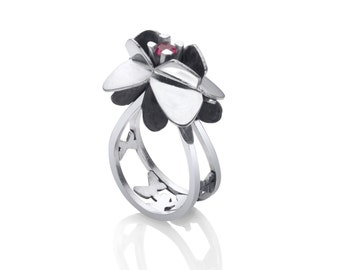 Butterfly Flowers Ring