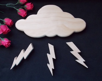 Stormy Night Unfinished DIY Wood Decorations