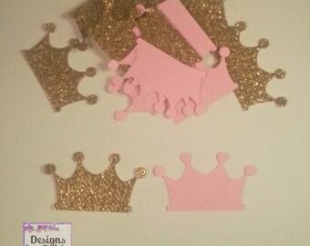 100 crown confetti, gold confetti, gold crown, princess confetti, royal confetti, princess tiara confetti