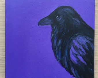 The Raven • Original Acrylic Painting