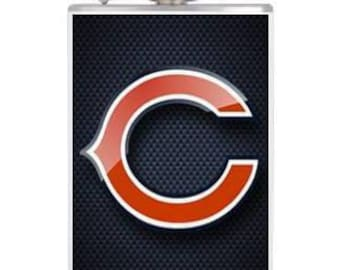 8oz Stainless Steel Wrapped Bears Flask