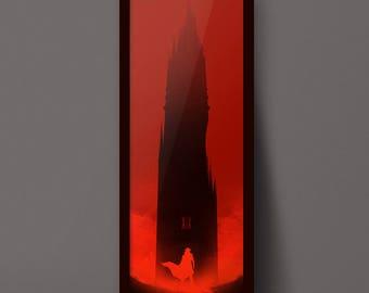 The Dark Tower Art Print, Gunslinger Poster Design