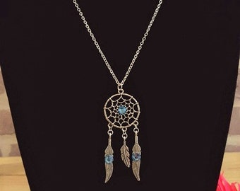 Dream Catcher Necklace, Dream Catcher Pendant, Dreamcatcher Necklace, Dreamcatcher Jewelry, Native American Necklace, Boho