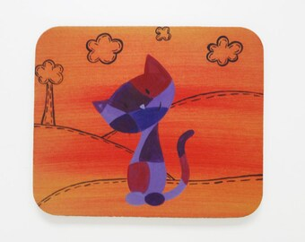 Cat Mouse Pad - Cat Office Accessories - Kitten Mousepad