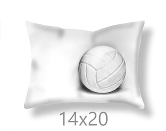 Volleyball Pillow Cover-Volleyball Throw Pillow-Sports Decor-Volleyball Outdoor Pillow Cover-Couch Pillow Cover-Sports Room Decor