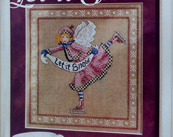 De Selby LET IT SNOW Figure Skater - Counted Cross Stitch Pattern Chart - fam