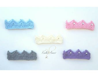 Baby boy crown, baby girl crown,crochet newborn baby crown, newborn boy photo prop, prince crown, newborn crown, princess crown, pink, blue
