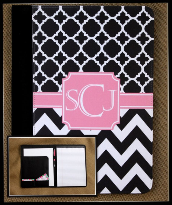Monogrammed Pad Folio Gifts for Coworkers Notebook Notepad Personalized Portfolio Monogrammed Going Away Gift For Coworker Co Worker