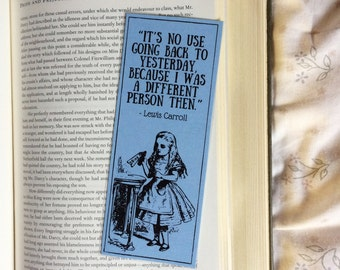 Alice in Wonderland Lewis Carroll Quote Bookmark